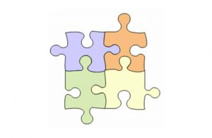 Puzzle pieces with defined edges