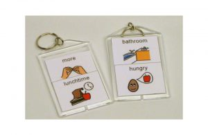 Example of keychains as communication devices